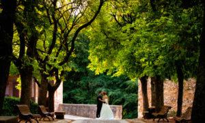 Sesión de fotos de boda en exteriores en Burgos
